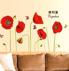 Best Top 10 3d Wall Stickers Poppies List And Get Free Shipping 9idh8kk0