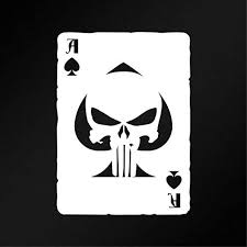 Amazon Com Wall Decal Ace Of Spades Punisher Skull Old Playing Card Vinyl Decal Sticker Made In The Usa Custom Color Home Kitchen