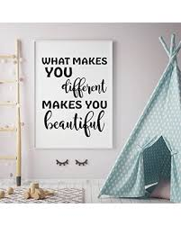 Don T Miss Sales On Wall Decal For Children What Makes You Different Inspirational Vinyl Quotes For Girls Tween Or Teen S Bedroom Decor