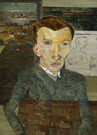"Lucian Freud ""Peter Watson"" 1941 Oil on Canvas 35.5cm x 25.5cm 