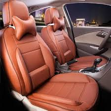 brown leather car seat cover thickness