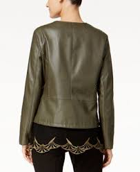 alfani petite whipstitched faux leather
