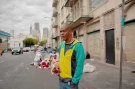 black homeless and burdened by l a s