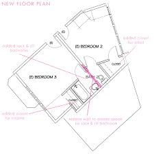 our new jack and jill bathroom plan