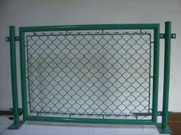 Chain Link Portable Fence Used As Construction Hoarding