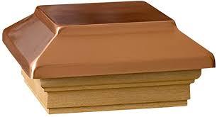 Deckorators 72295 Decking 4 Quot X 4 Quot Copper Post Cap With Cedar Base Decking Caps Amazon Com