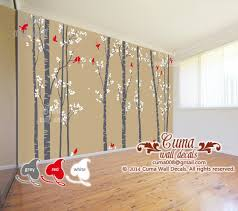 Tree And Birds Wall Decal Birds Nature By Cuma Wall Decals On Zibbet