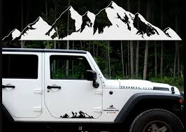 Product Mountain Stickers For Car Truck Suv Camper Door Body Graphic Decal Window Windshield Vinyl Custom Forest Nature