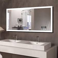 55x28 in dimmable led bathroom mirror