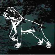 Boxer Dog Car Decals Stickers Decal Junky