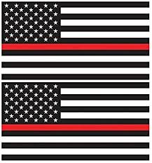 Amazon Com Large 4 X 6 Thin Red Line United States American Flag Decal Stickers Premium Quality Heavy Duty 3m Usa Vinyl Die Cut Screen Printed Adhesive On Back 2 Automotive