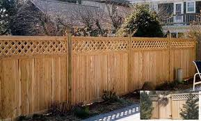 Square Lattice Top Decorative Fence Section Academy Fence Company Nj Pa Ny