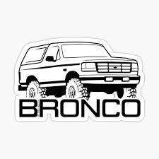 Ford Bronco Stickers Redbubble