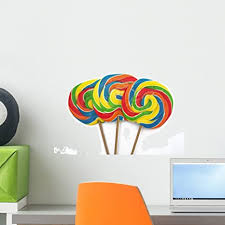 Amazon Com Wallmonkeys Three Lollipops Wall Decal Peel And Stick Graphic Wm188767 18 In W X 12 In H Home Kitchen