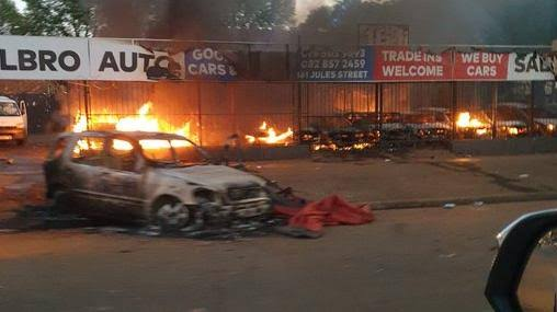 Image result for looting riots south africa""
