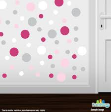 Baby Pink Hot Pink Light Grey White Polka Dot Circles Wall Decals Polka Dot Circles Decalvenue Com Decal Venue