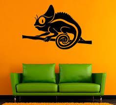 Chameleon Vinyl Decal Chameleon Wall Sticker Animals Vinyl Etsy