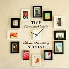 time spent family quote wall decoration letters vinyl home