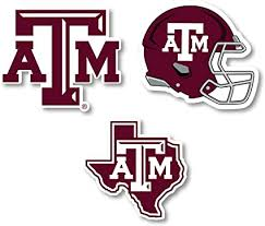 Amazon Com R And R Imports Texas A M Aggies Vinyl Decal Sticker 3 Pack 4 Inch Each Sports Outdoors