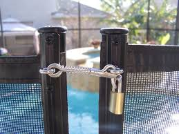 Spring Loaded Latches Baby Barrier Pool Fence Of San Jose