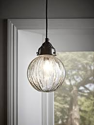 fluted glass pendant round glass