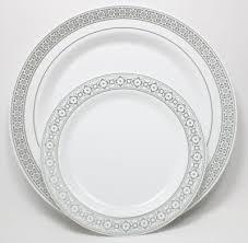 plastic plates elegant palatial silver