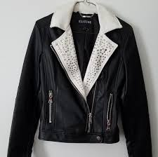 rockstar studded vegan leather xs