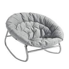 Urban Shop Rocking Saucer Chair Grey Hammock Town