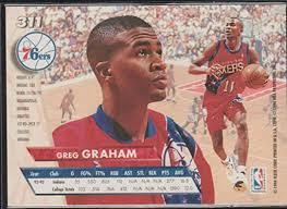 Amazon.com: 1993-94 Ultra Greg Graham 76ers Rookie Basketball Card #311:  Collectibles & Fine Art
