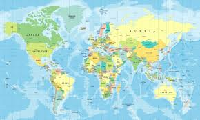 highly detailed world map wallpaper