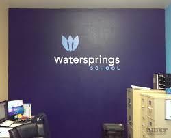 Watersprings Wall Words Turner Sign Co
