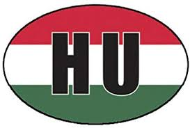 Amazon Com Hungary Oval Sticker Decal Hungarian Country Code Euro Hu V4 Truck Car Decal Vinyl Bumper Sticker Sticks To Any Surface 5 Kitchen Dining