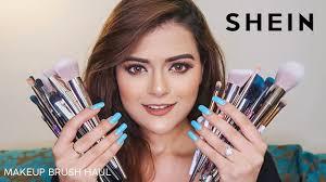 shein makeup brush set haul