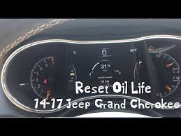 reset oil life 2016 jeep grand cherokee