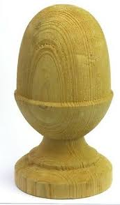 Wooden Acorn Finials To Suit 100mm 4 Square Fence Posts Ebay