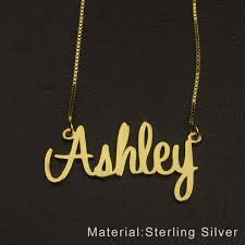 custom gold name necklace name with