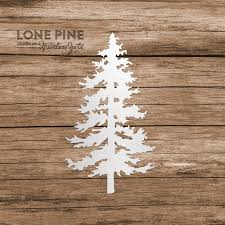 Lone Pine Tree Evergreen Computer Phone Tablet Decal Sticker Etsy