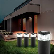 Arlec Grey Render Finish Sandor Solar Bollard Light Bunnings Warehouse