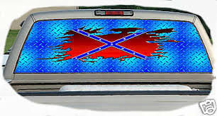 Ripped Rebel Flag Rear Window Graphics Tint Decals Parts For Sale Dragtimes Com
