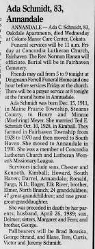 Ada Meyer Schmidt Obituary - Newspapers.com