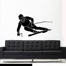 Wall Vinyl Decal Sticker Bedroom Sport Snow Ski Skiing Skier Z2626 Stickersforlife