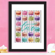 Amazon Com Walplus Wall Stickers Macaron Desserts Poster Murals Decals Art Living Room Nursery School Restaurant Hotel Cafe Office Decor Home Decoration Posters Prints