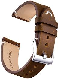 20mm genuine leather watch bands quick