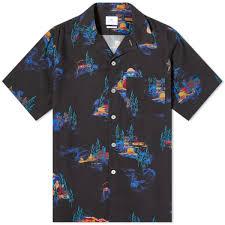 Paul Smith UFO Motel Print Vacation Shirt Black | END.