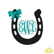 Horseshoe Decal With Bow Horseshoe Monogram Yeti Decals Tumbler Decal Rtic Cup Decal Decal For Women Monogram Decal Custom Vinyl Decal Car Monogram Decal