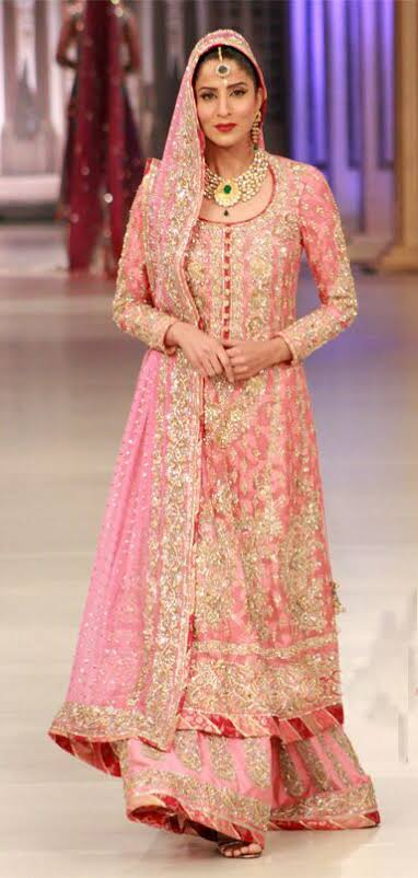 "Image result for bridal pink maxi dress pakistani"""