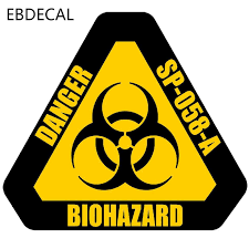 Ebdecal Danger Biohazard Sign Warning Mark For Auto Car Bumper Window Wall Decal Sticker Decals Diy Decor Ct5859 Car Stickers Aliexpress