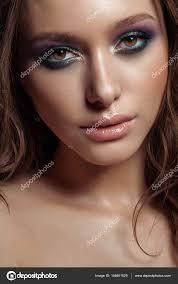 perfect makeup gorgeous woman face