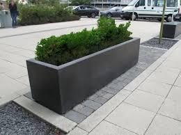 robust large outdoor concrete planters