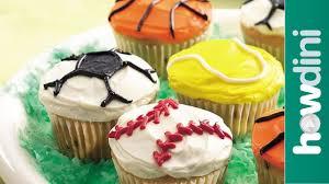 cupcake decorating ideas sports theme